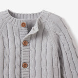 Heather Gray Cable Knit Baby Sweater