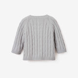 Gray Cable Knit Baby Sweater