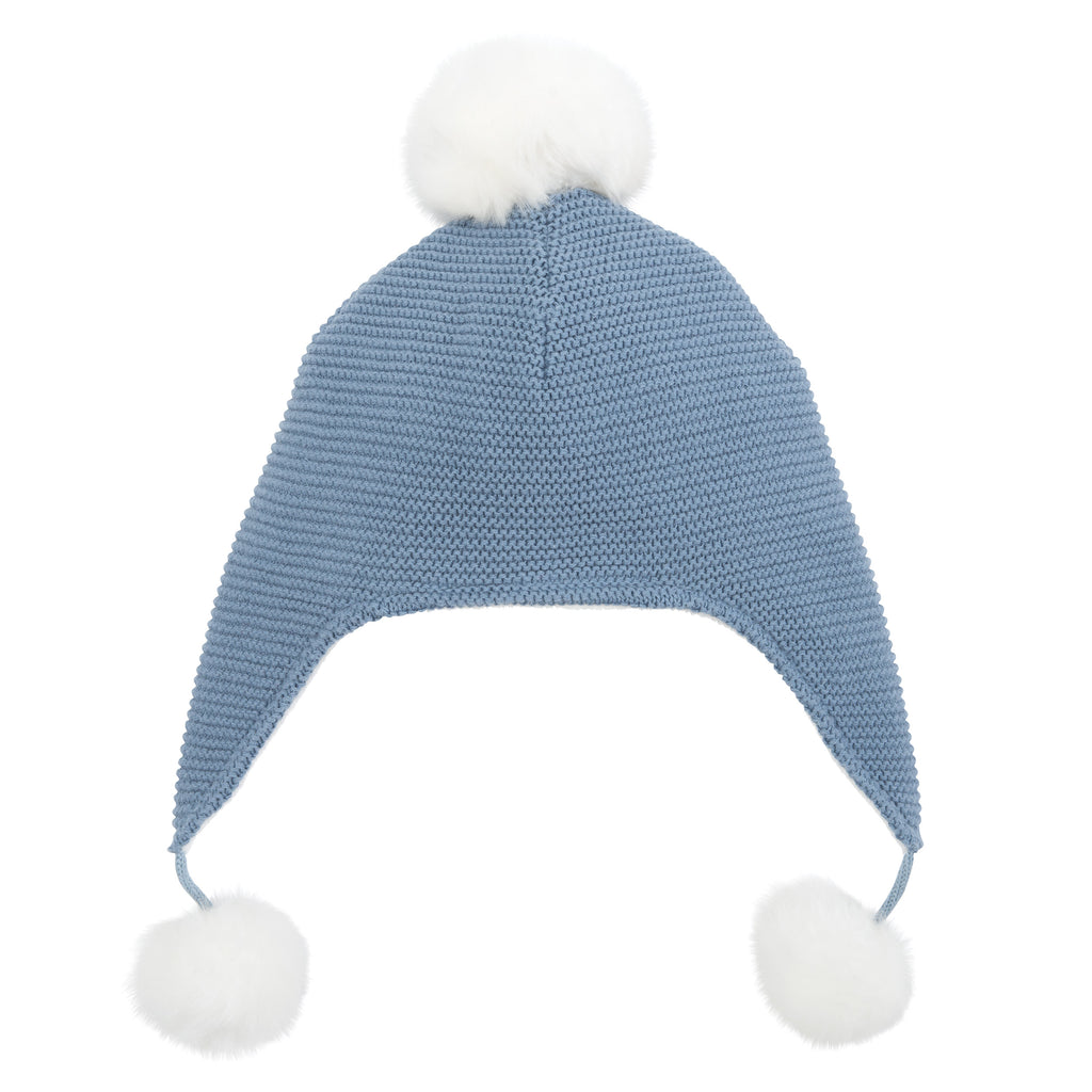 Aviator Hat Pom Brt Blue