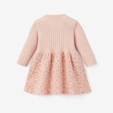 Pink Leopard Knit Baby Dress