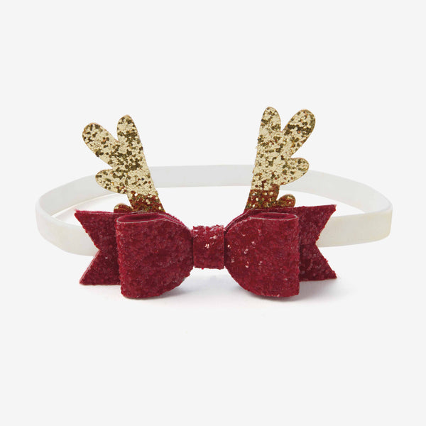 Holiday Reindeer Baby Hair Bow Headband