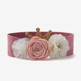 Mauve Flower Crown Baby Girl Headband