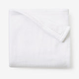 White Simple Fleece Baby Blanket