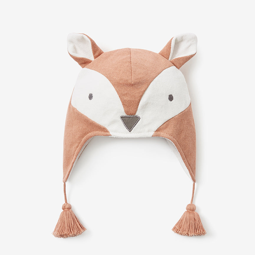 Fox Aviator Knit Baby Hat
