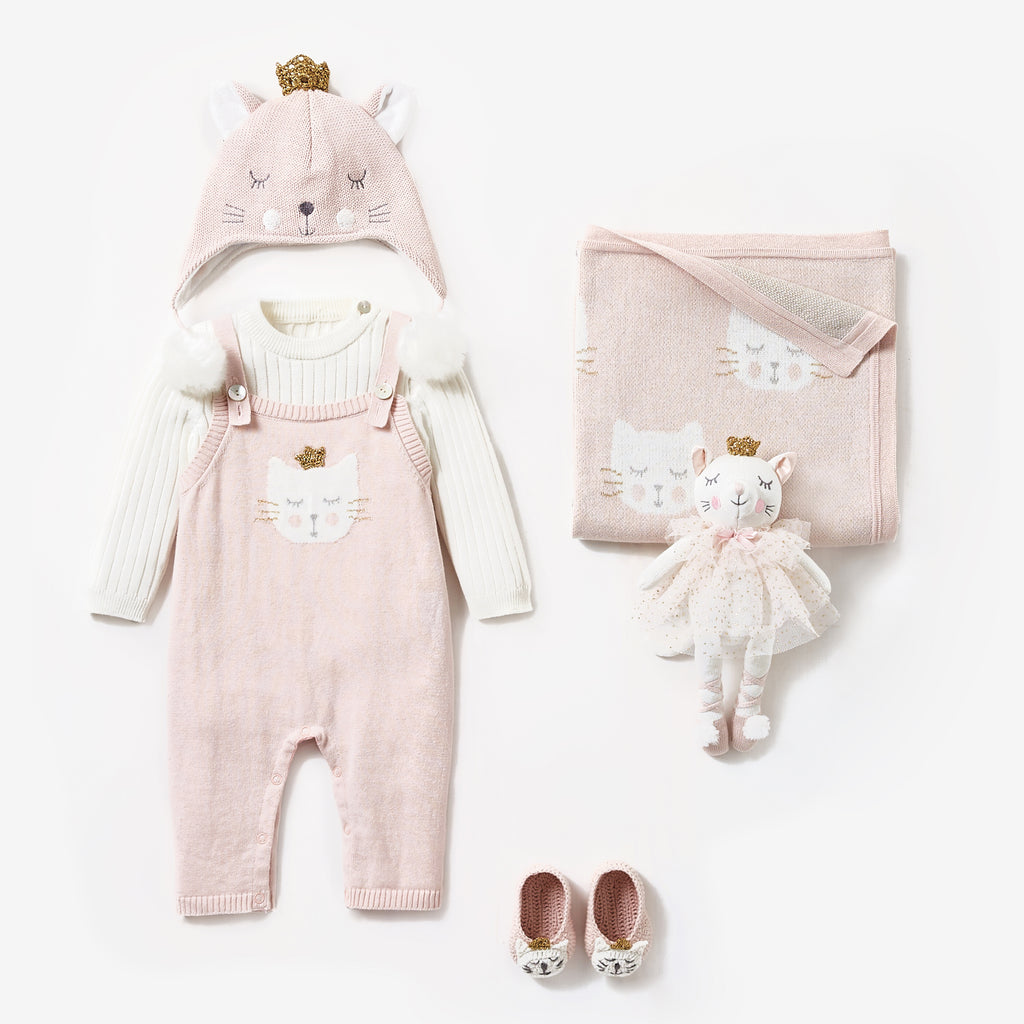 Princess Kitty Overall Baby Gift Set