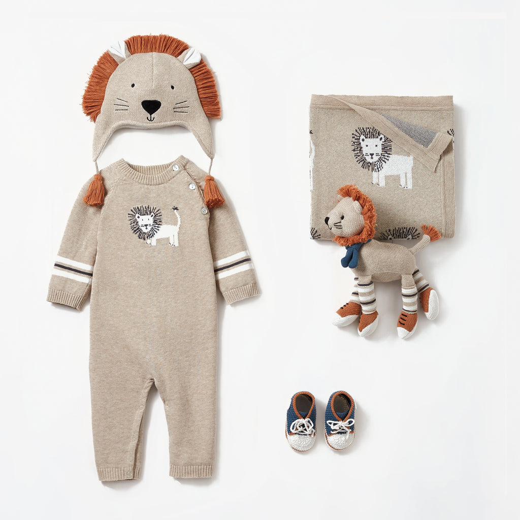 Lion Jumpsuit Baby Gift Set