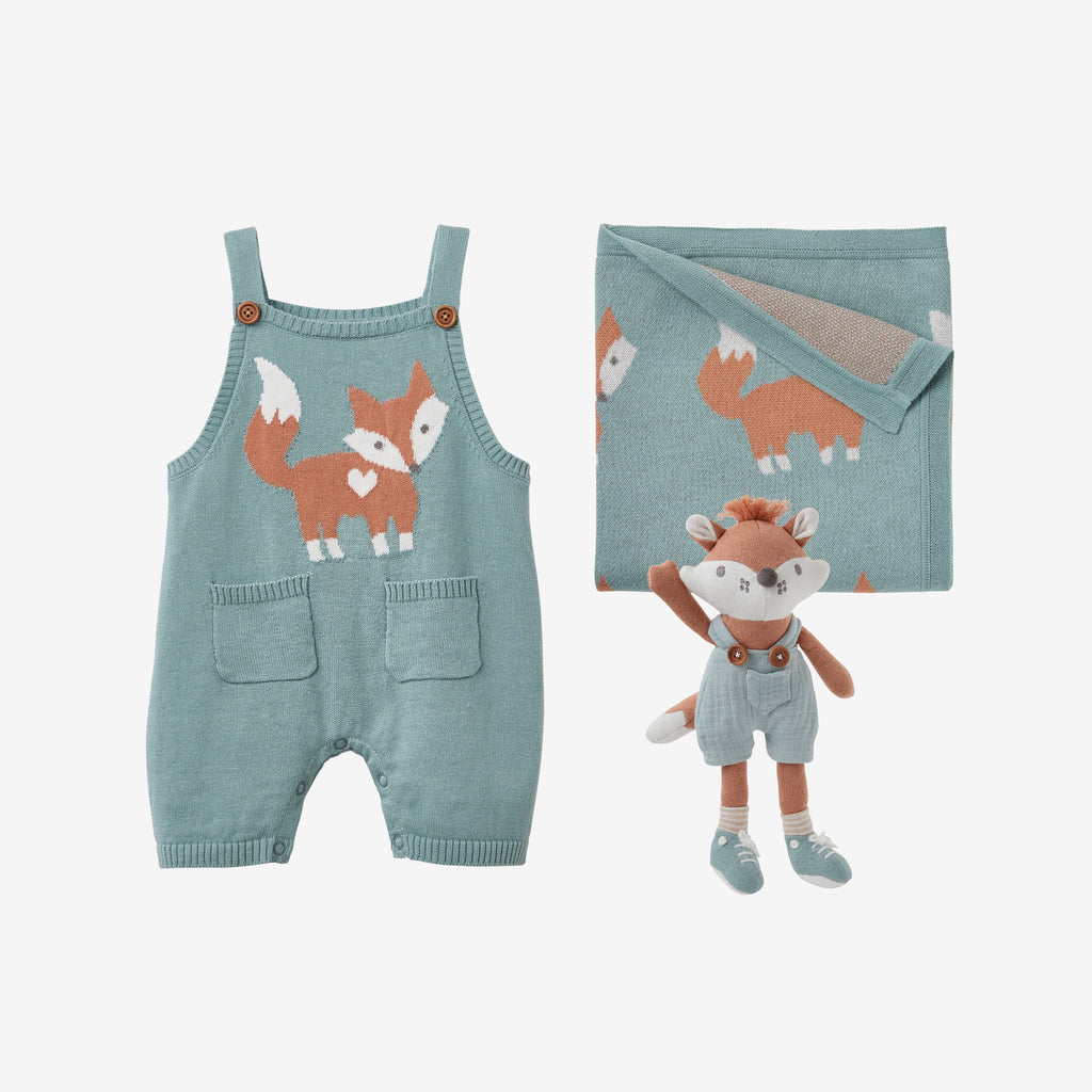 Fox Knit Baby Gift Set