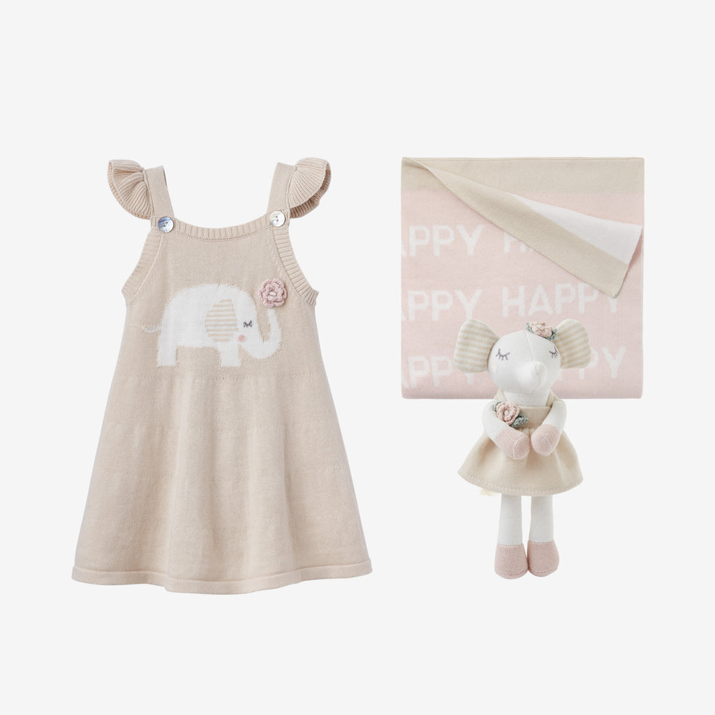 Elephant Princess Baby Gift Set