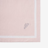 Blush Tuxedo Stripe Reversible Cotton Knit Baby Blanket