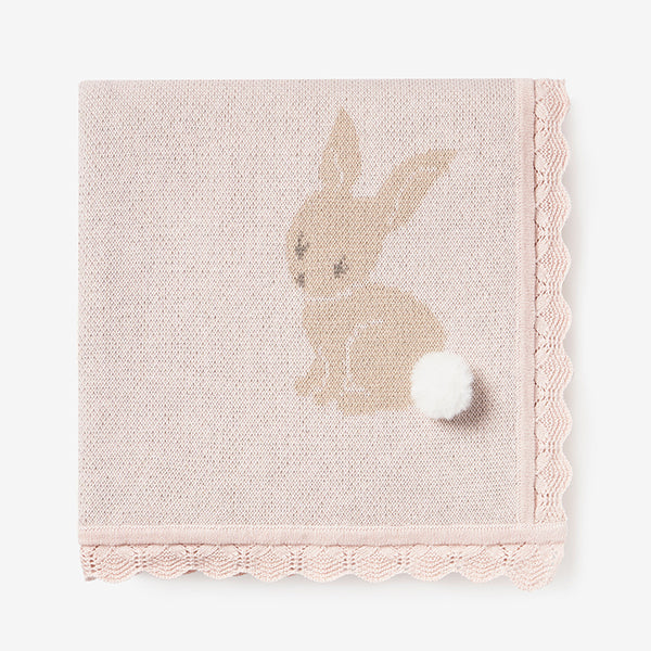 Bunny Cotton Knit Baby Blanket