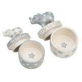 Gray Elephant Tooth & Curl Set