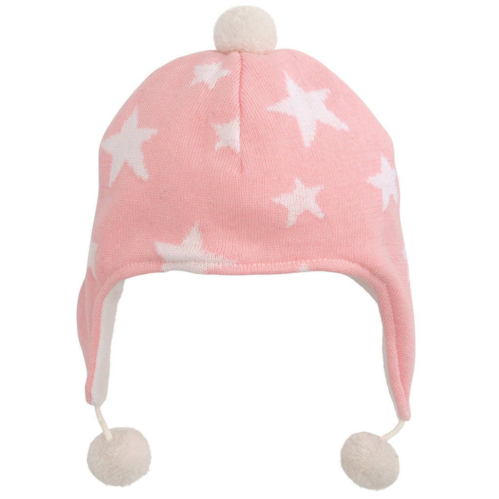 Star Aviator Hat-Pink 0-12M