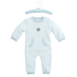 Blue Stripe Knit Baby Jumpsuit