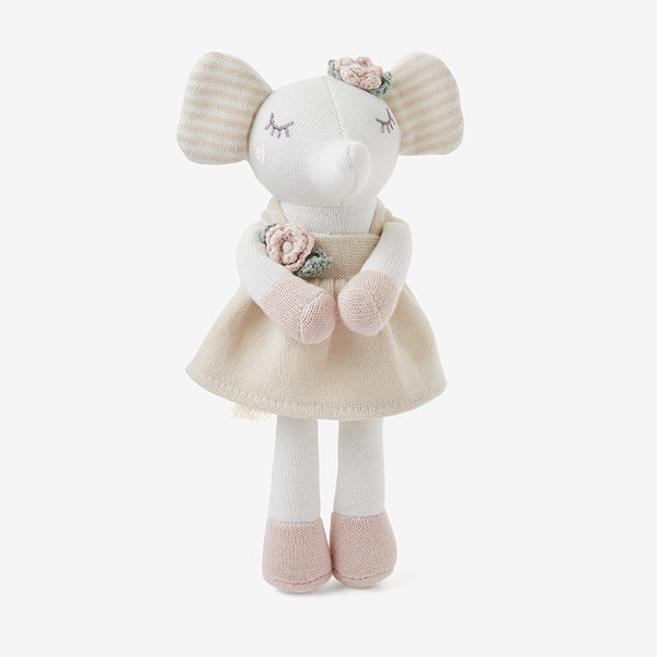 8'' Mini Elephant Princess Baby Knit Toy