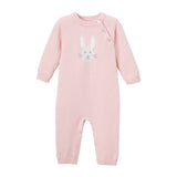 Pink Bunny Knit Baby Jumpsuit