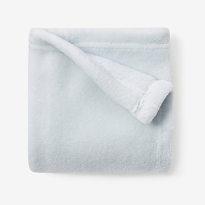Pale Blue Simple Fleece Security Blanket