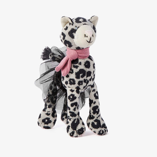 "10"" Laurel Leopard Baby Knit Doll"