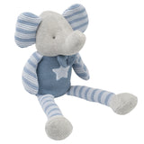 Knit Elephant Blue 10""