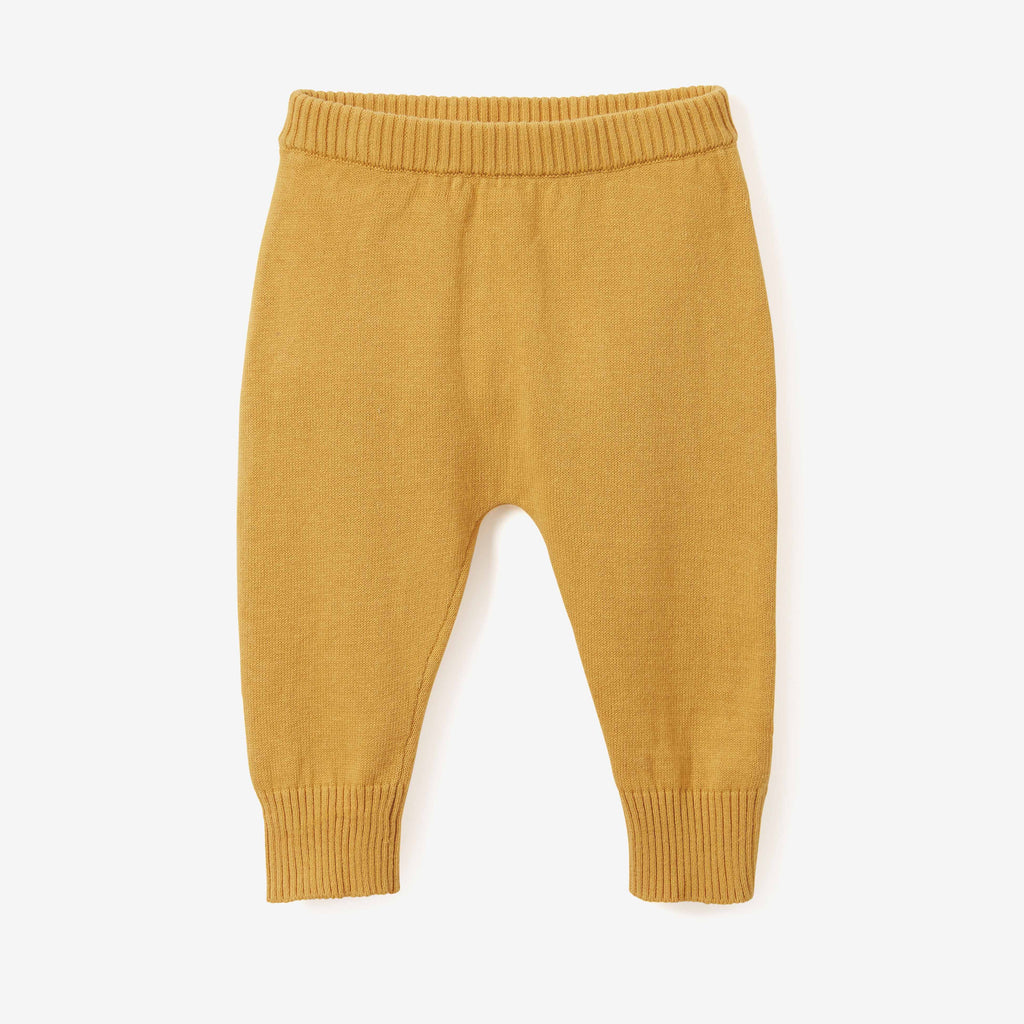 Mustard Fine Knit Cotton Baby Pant