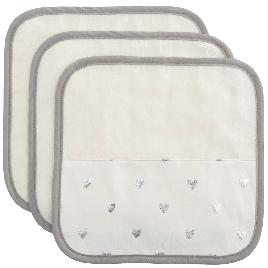 Organic Washcloth Set Heart