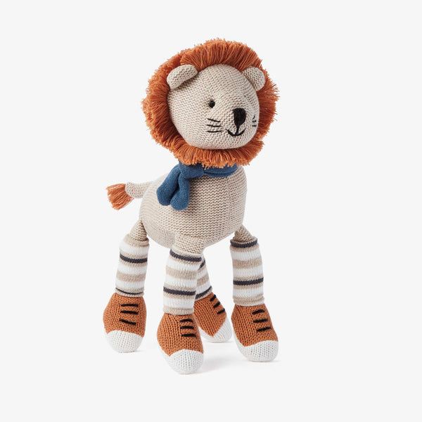 "10"" Leo Lion Baby Knit Doll"