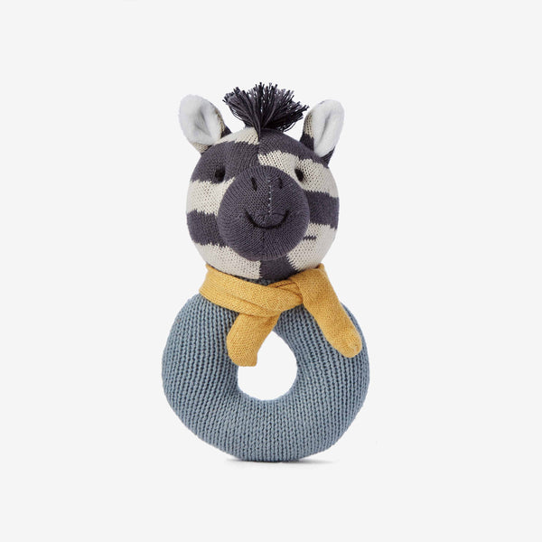 Zebra Baby Ring Rattle