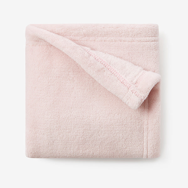 Chalk Pink Simple Fleece Security Blanket