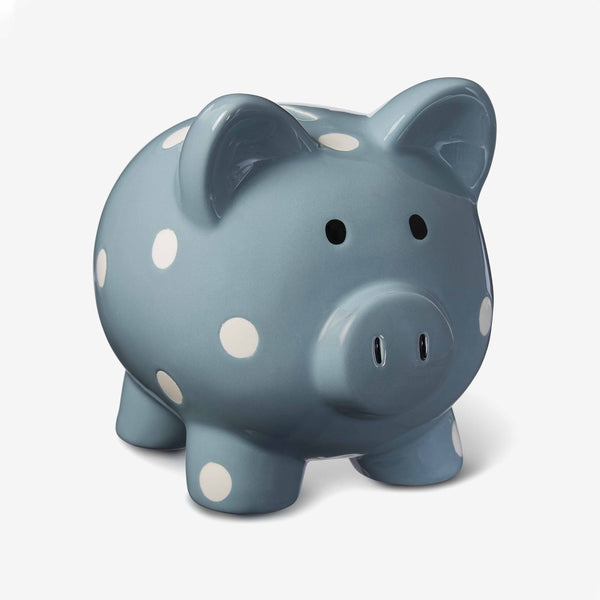 Ceramic Light Teal Baby Piggy Bank