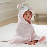 Princess Mousie Hooded Baby Bath Wrap