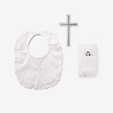 Girls' Bible, Cross, & Bib Christening Gift Set
