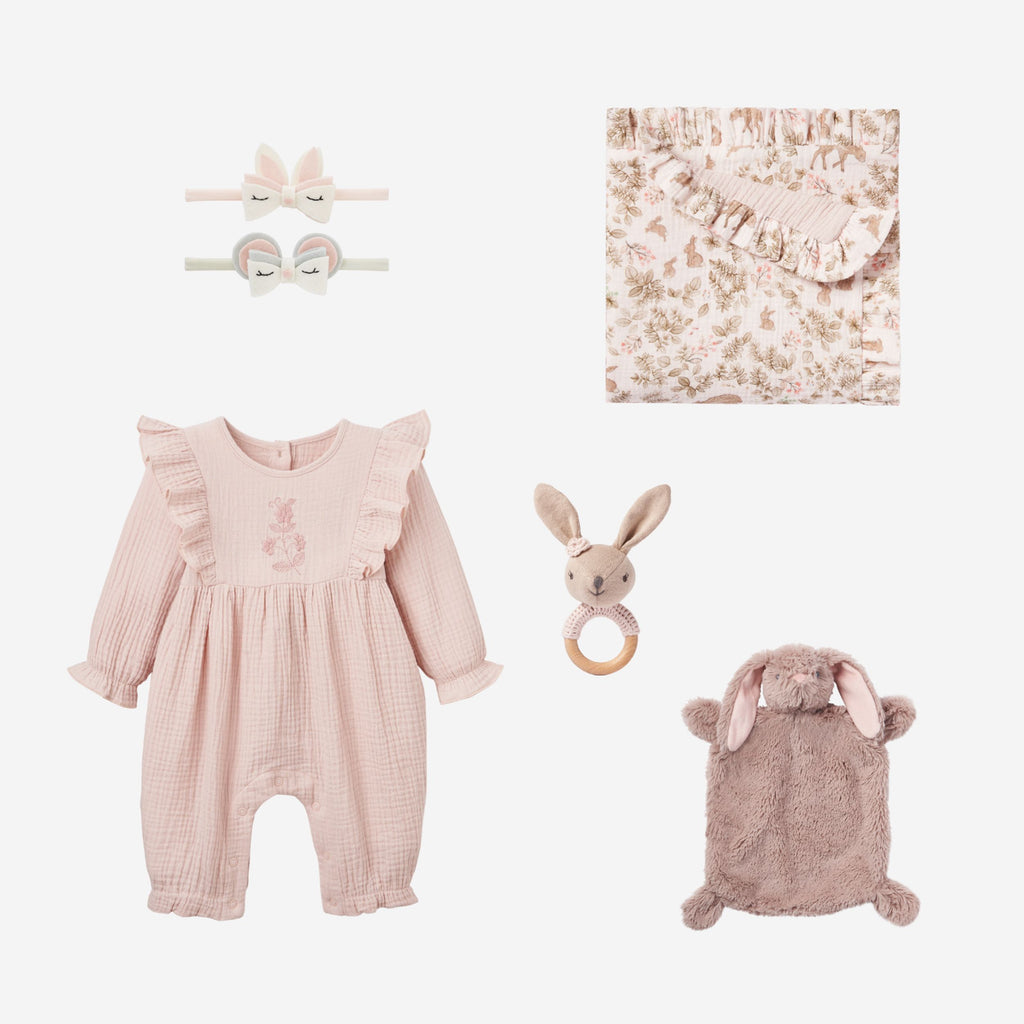 Bunny Jumpsuit Baby Gift Set