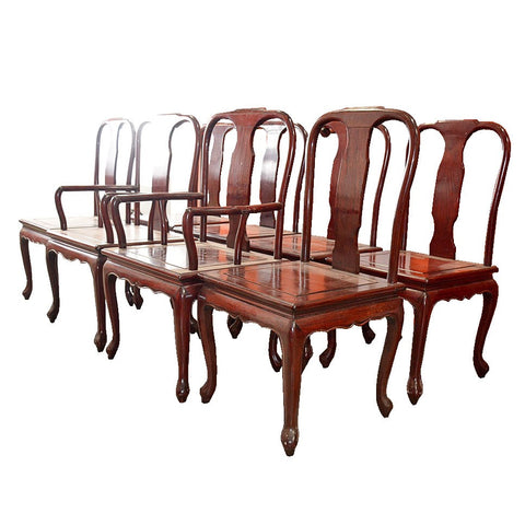 Awesome Mahogany Ming Style Dining Chairs   Set Of 8