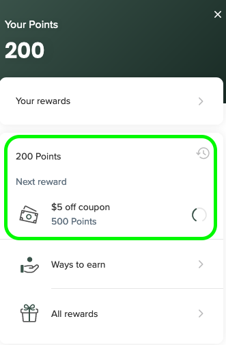 reward bubble points
