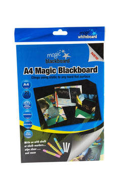 "Magic Blackboard Letter-sized 20 Sheets BLACK (8.25"" x 11.75"") Portable Dry-Erase Surface 