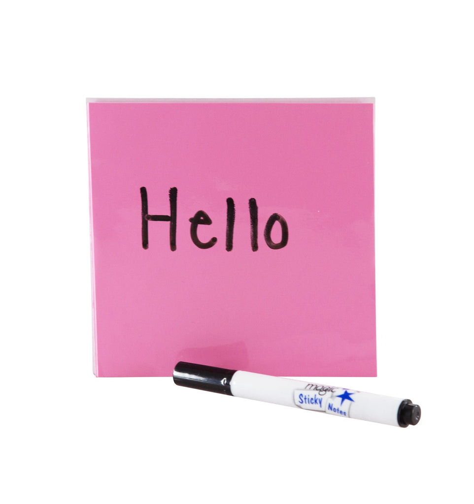 Magic Whiteboard Sticky Notes Pad Pink 50 Sheets 4 X4