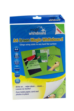 "Magic Whiteboard Letter-sized 20 Sheets GREEN (8.25"" x 11.75"") Portable Dry-Erase Surface 