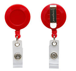 Standard ID Badge Reel Round Belt Clip RED (SRX2120-3036)