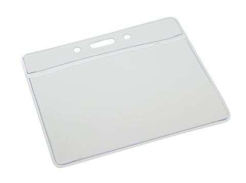 "0.15 EACH! - Pack of 100 - Horizontal Vinyl Badge Holder Insert size 2 1/16"" x 3 1/4"" (53 x 83 mm) CLEAR (SRX1820-1000)"