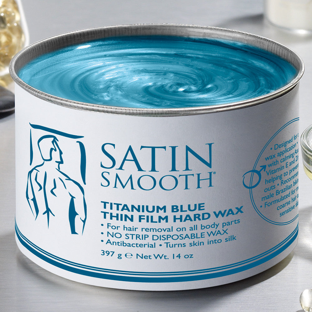 SATIN SMOOTH Titanium Blue Thin Film Hard Wax SSW14MPG