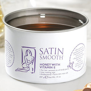 SATIN SMOOTH Honey Wax with Vitamin E SSW14G