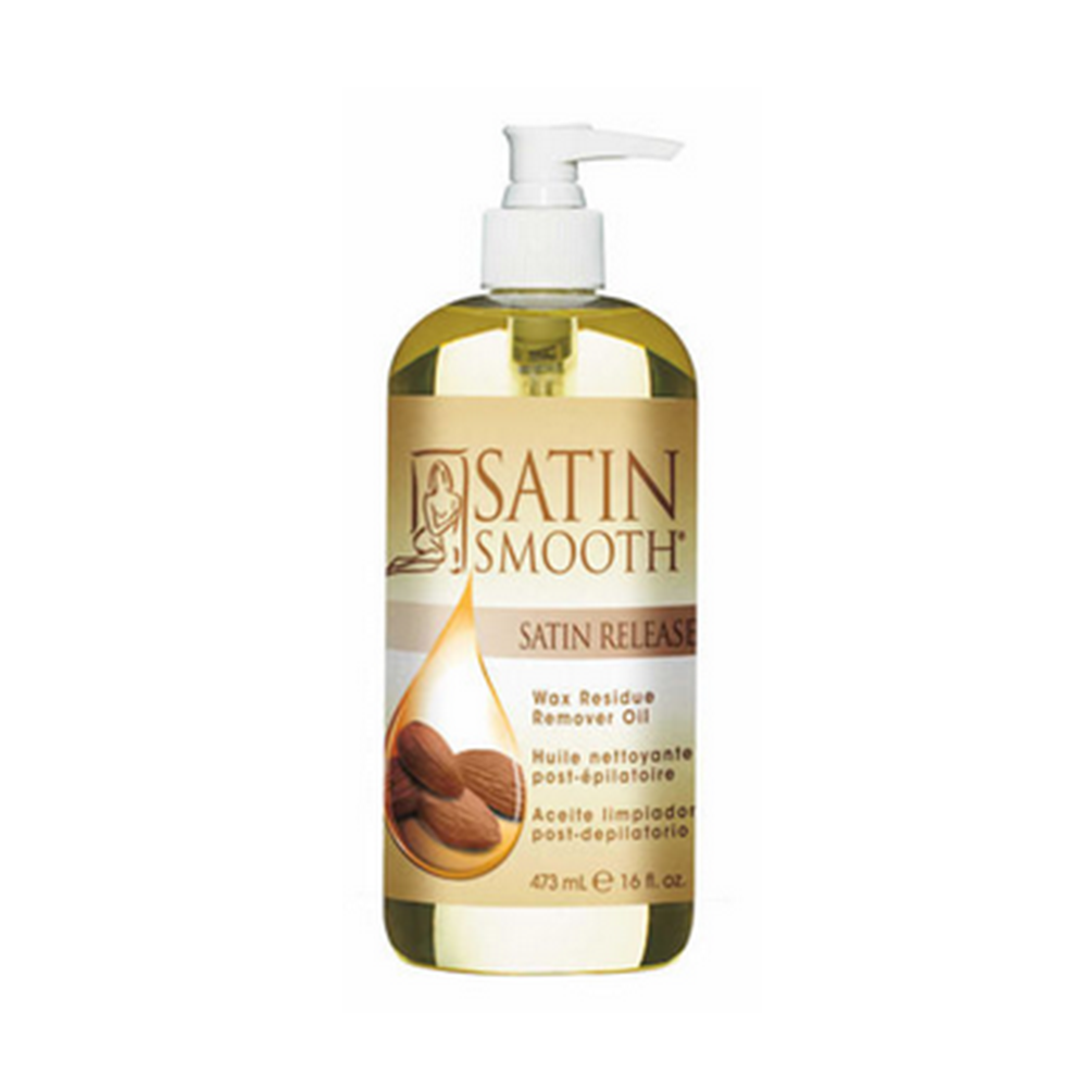 SATIN SMOOTH Satin Release- Wax Residue Remover 16oz. SSWLR16G