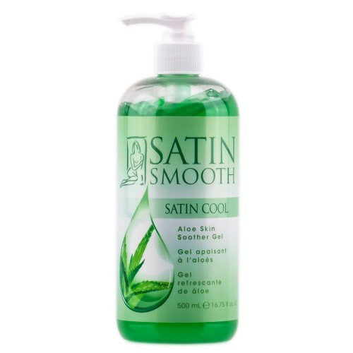 SATIN SMOOTH Satin Cool Aloe Vera Skin Soother 16oz SSWLA16G