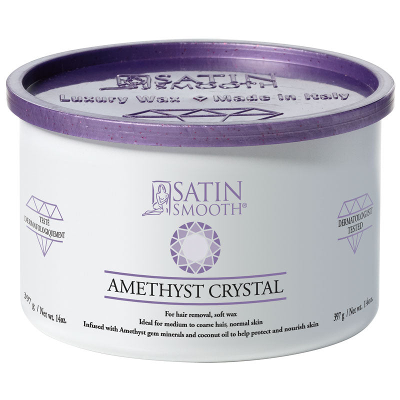 Amethyst Crystal Gem Wax, Satin Smooth SSW14AC