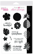 Rina K Designs StampnStencil™ SENDING SUNSHINE Stamp Set 5.5 in x 8 in