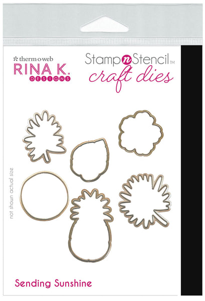 Rina K Designs StampnStencil™ SENDING SUNSHINE Die Set | Craftastic Cabin Inc
