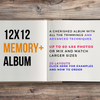 "12""x12"" MEMORY+ Package up to 60 photos Custom Scrapbooking Album"