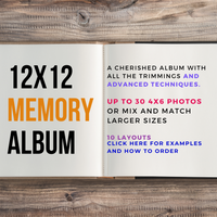 "12""x12"" MEMORY Package up to 30 photos Custom Scrapbooking Album"