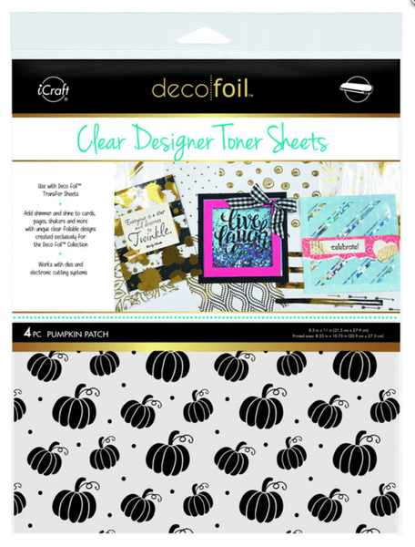 Deco Foil Clear Designer Toner Sheets - PUMPKIN PATCH (4 sheets per pack) | Craftastic Cabin Inc