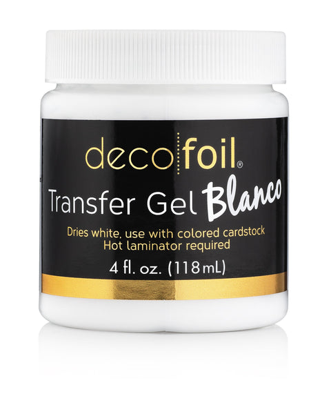 Deco Foil Transfer Gel BLANCO 4 fl oz - Craftastic Cabin Inc