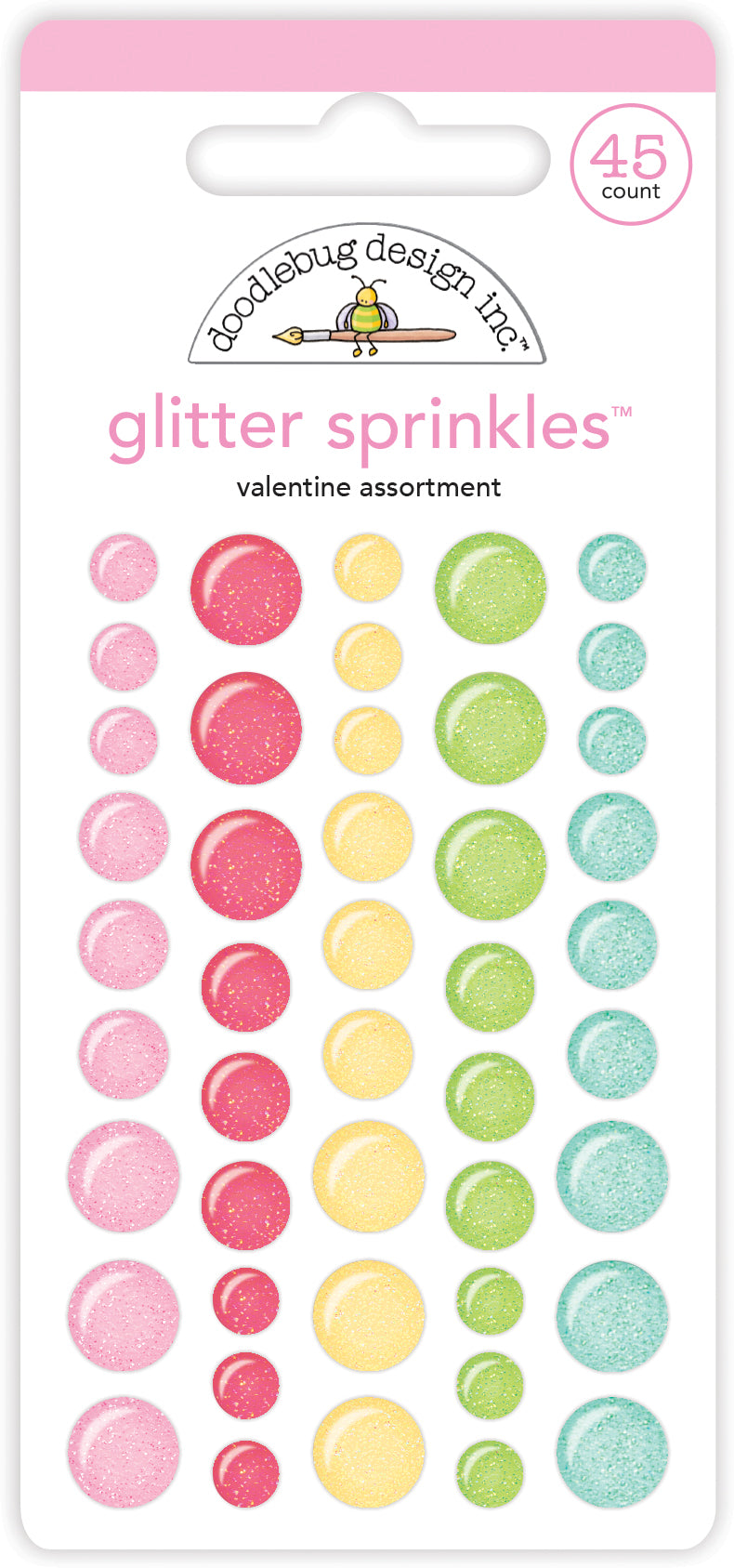Doodlebug GLITTER Sprinkles - Valentine Assortment 5829
